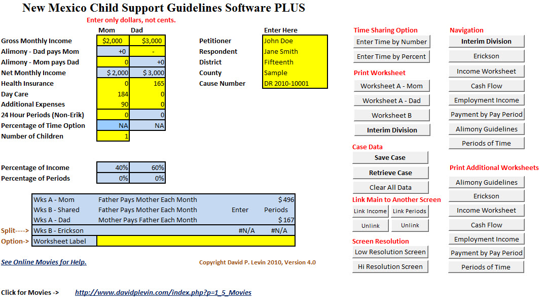 Child Support Calculation Worksheet Free Worksheets Library – Massachusetts Child Support Worksheet